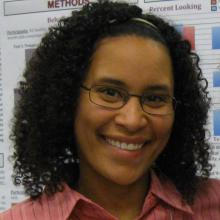 Charisse Pickron at a poster presentation